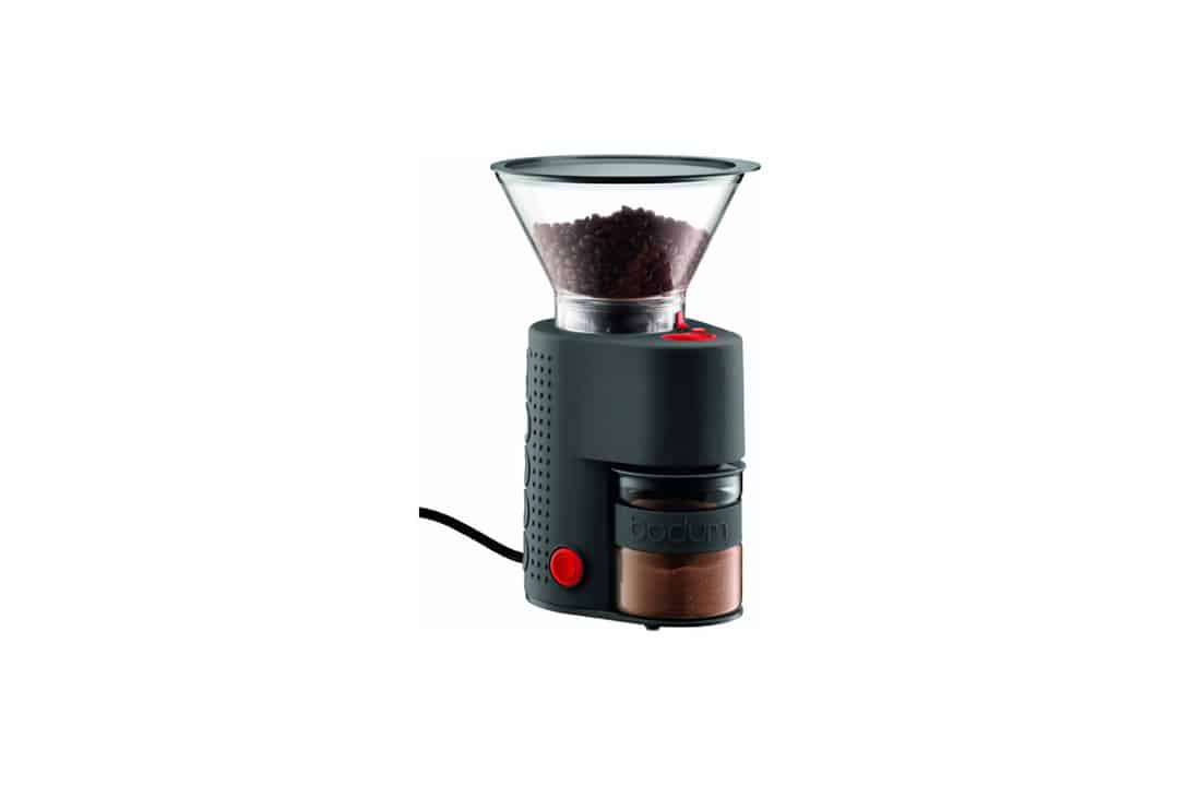 Bodum BISTRO Burr Grinder, Electronic Coffee Grinder with Continuously Adjustable Grind, Black