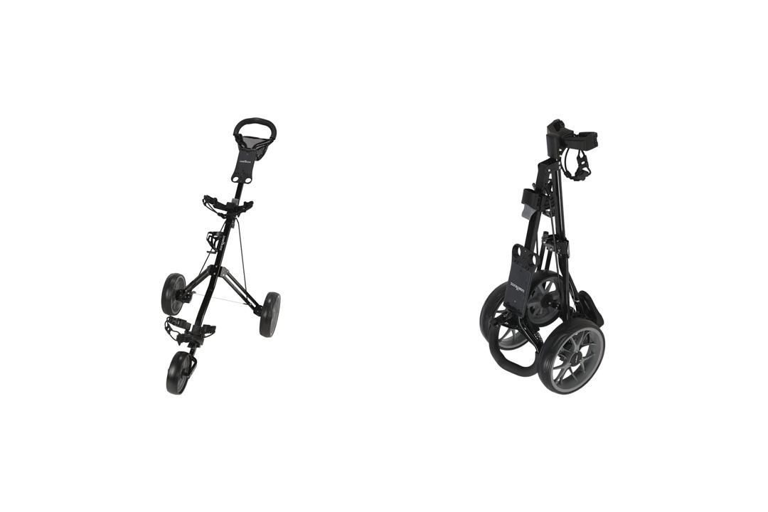 Caddymatic Golf Pro Lite 3 Wheel Golf Cart Black/Gray