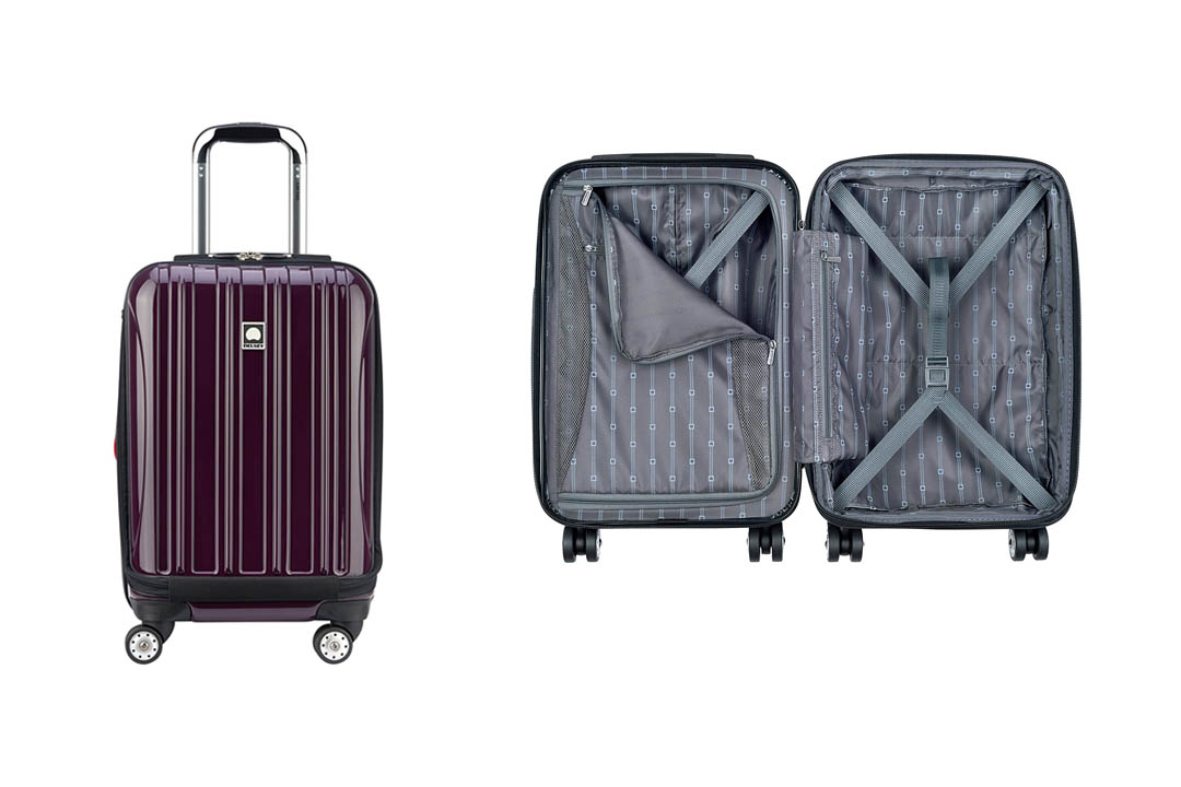 Desley Luggage HeliumAero International Carry on Expandable Spinner trolley Bag