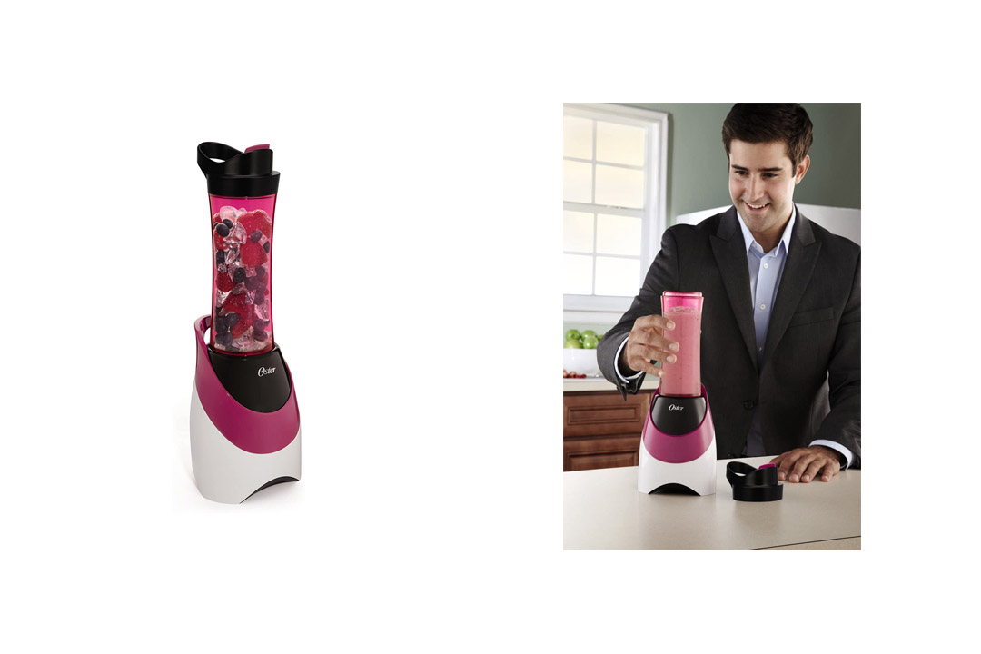 Oster BLSTPB-WPK My Blend 250-Watt Blender with Travel Sports Bottle, Pink