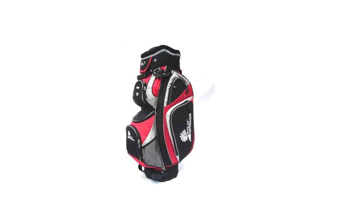 PALM SPRINGS GOLF Red/Silver Full-Length Divider Cart Bag