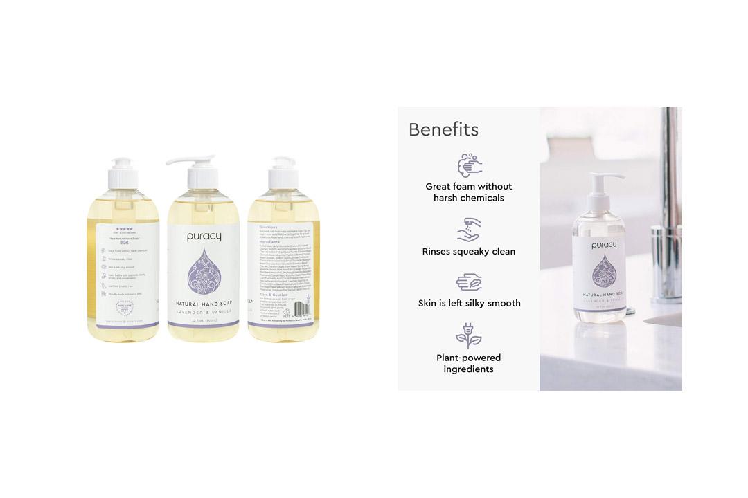 Puracy Natural Liquid Hand Soap, Sulfate-Free Moisturizing Gel Hand Wash