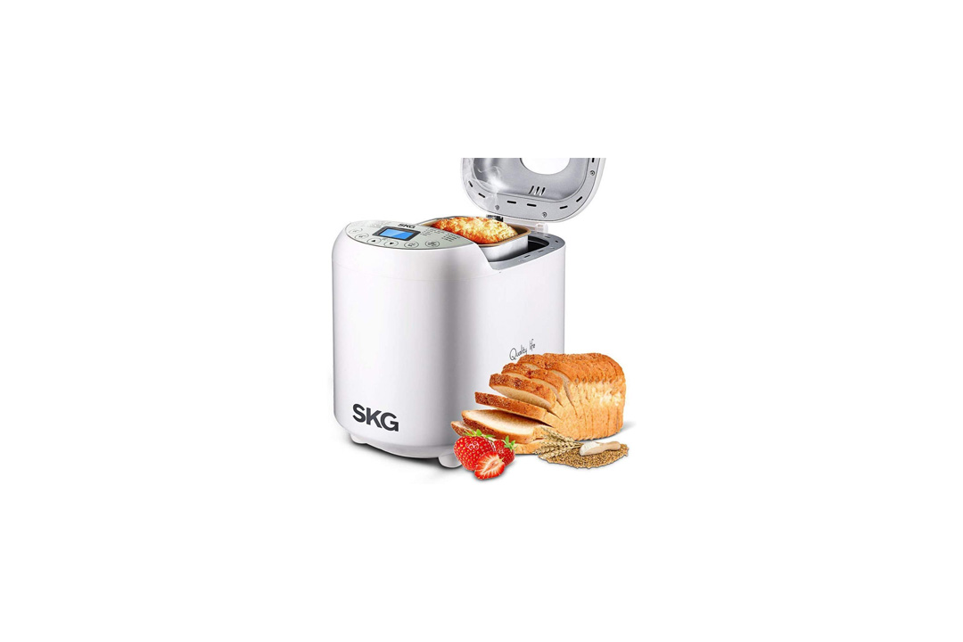 SKG Automatic Bread Machine 2LB - Beginner Friendly Programmable Bread Maker