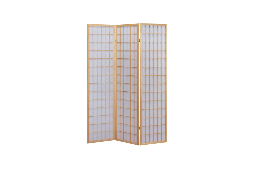 ACME 02285 Naomi Wooden Screen, Natural Finish