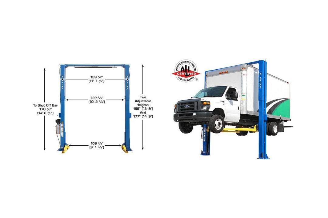 Atlas Apex 12 ALI Certified Overhead 12,000 lb. Height 2 Post Vehicle Lift