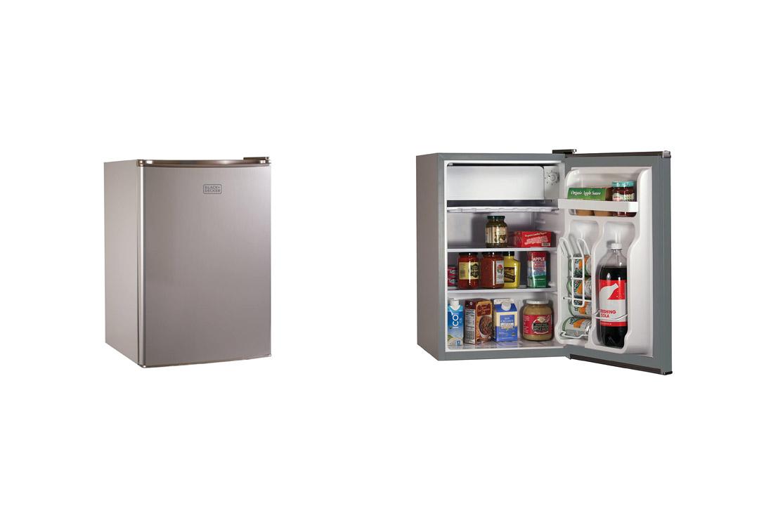 BLACK+DECKER BCRK25V Compact Refrigerator Energy Star Single Door Mini Fridge with Freezer