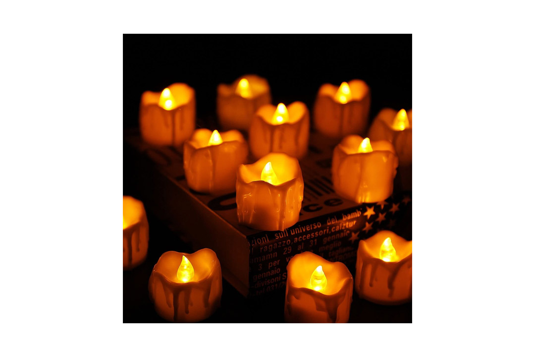 Electric Flameless Candles, LED Tea Light Candles With Battery-Powered Wedding Candles Decorations For Parties Events, Flickering LED Candles (12 Packs)