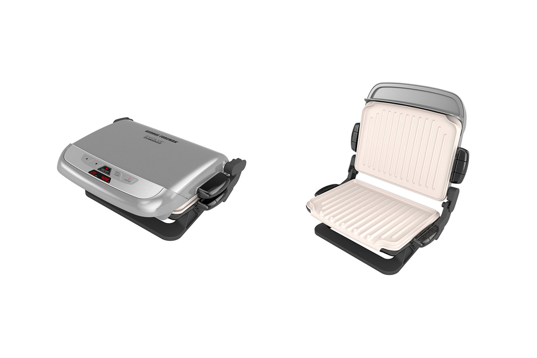 George Foreman GRP4842P Multi-Plate Evolve Grill With Ceramic Grilling Plates