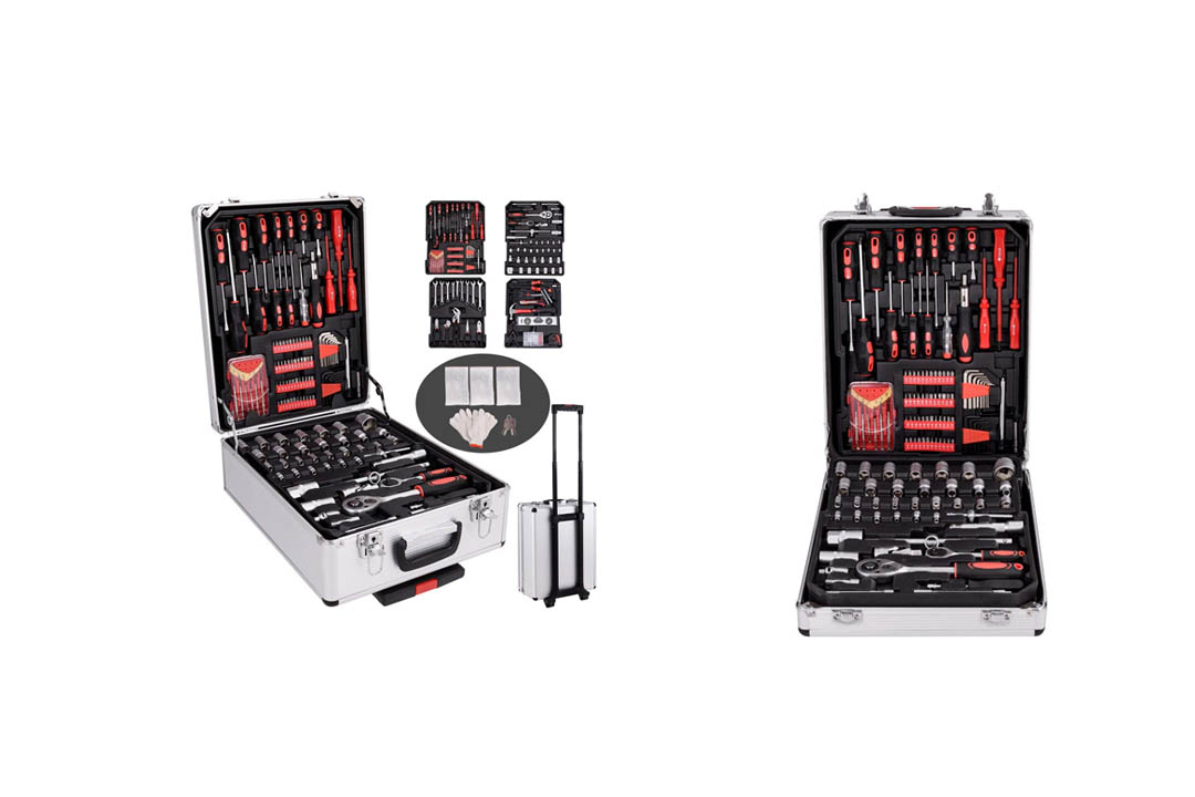 Goplus 599 PCS Tool Set Mechanics Tool Kit Wrenches Socket w/Trolley Case