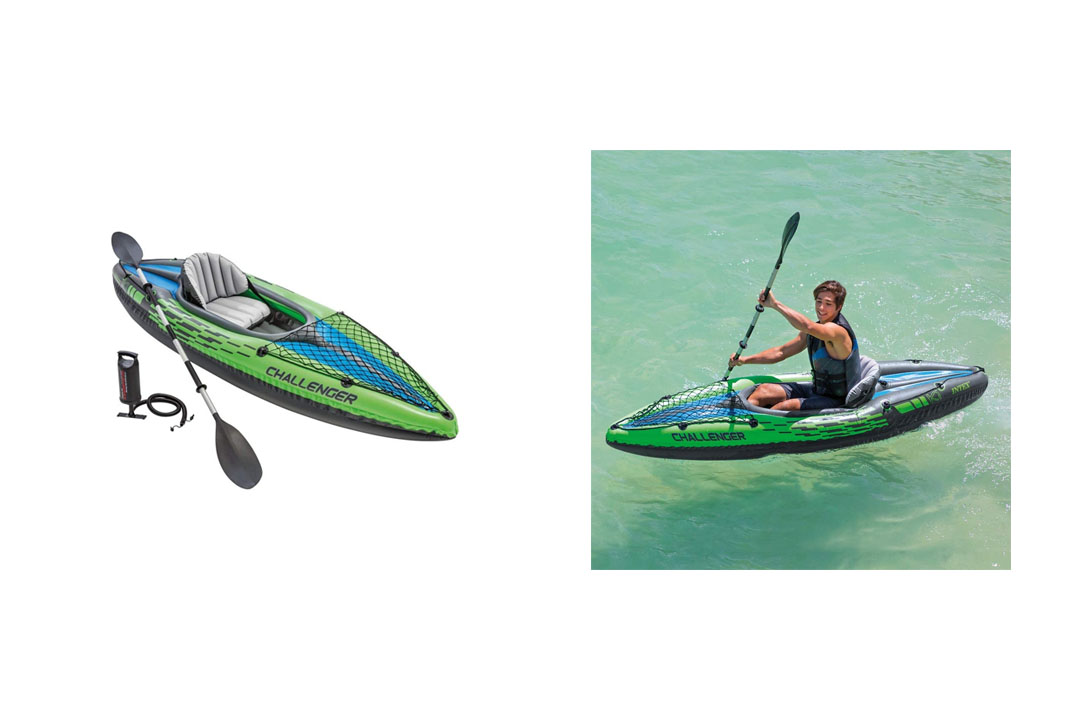 Intex Challenger K1 Kayak, 1-Person Inflatable Kayak
