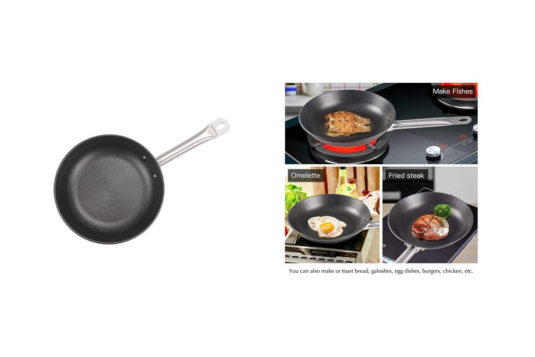 KINDEN Cast Iron Skillet - Pre-Seasoned Frying Pan, Grill Stovetop Oven Induction Safe Saucier Pan
