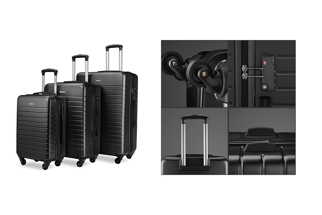 Luggage Sets Spinner Hard Shell Three Piece Suitcase
