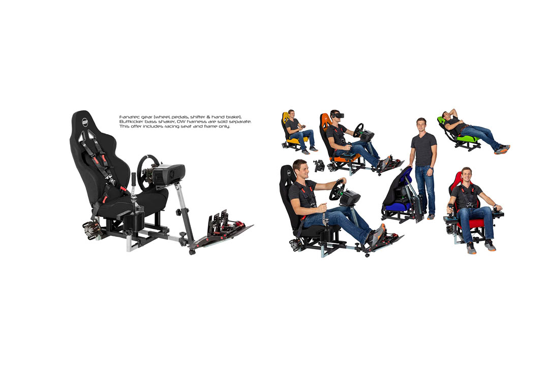 Openwheeler Racing Wheel Stand Cockpit Black on Black | For Logitech G29