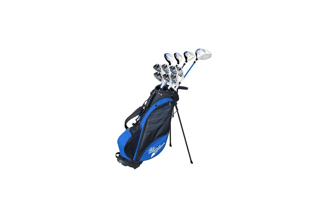 Palm Springs Golf VISA V2 GRAPHITE & STEEL Club Set & Stand Bag
