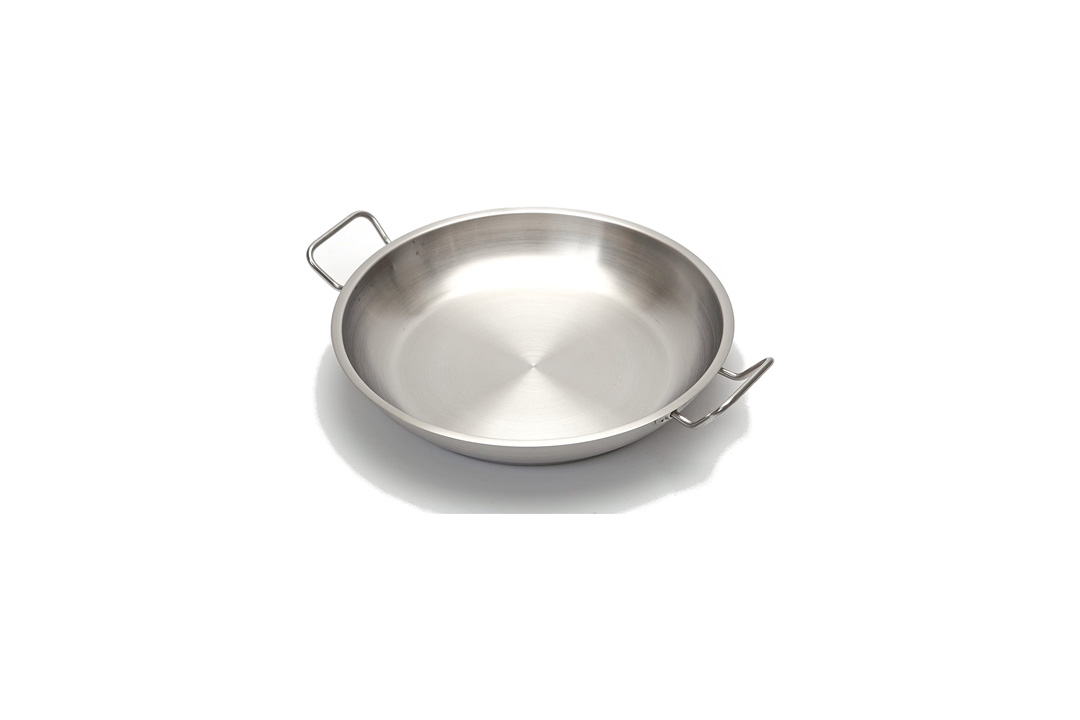 Professional 12.5 Inch. Paella Pan Stainless Steel - Heavy Duty