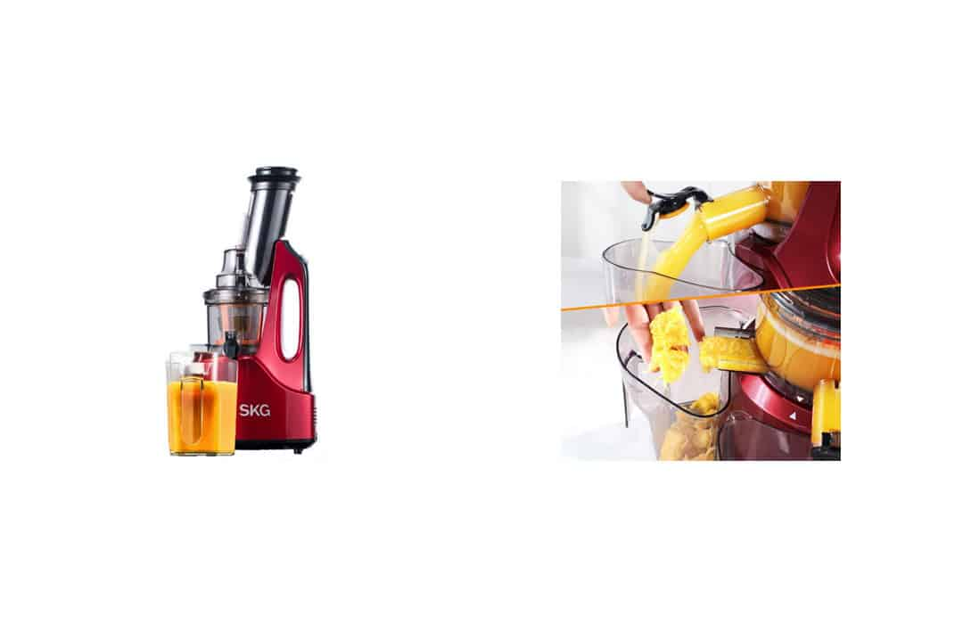 SKG Wide Chute Anti-Oxidation Slow Masticating Juicer Vertical Masticating Cold Press