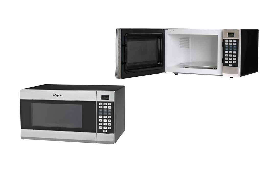 Stainless Steel Microwave Oven - 6 Instant Cooking Settings Speed Cooking Microwave