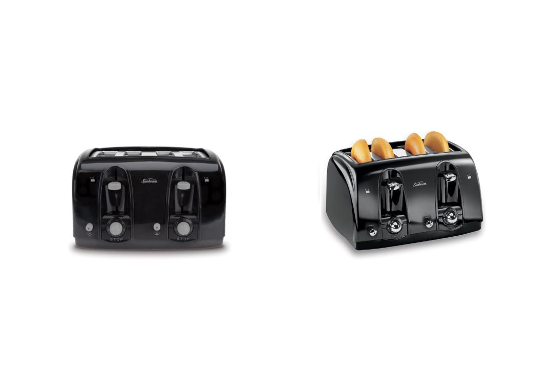Sunbeam 3911 4-Slice Wide Slot Toaster, Black