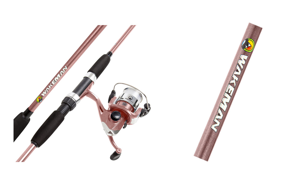 Wakeman Swarm Series Spinning Rod and Reel Combo Blue