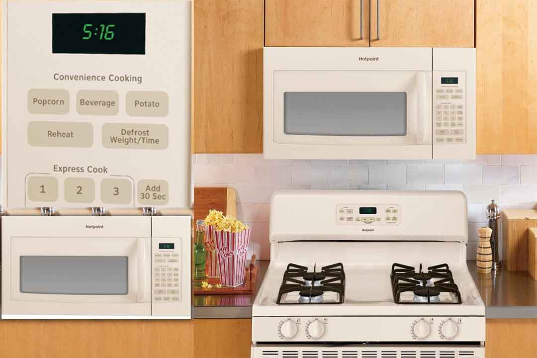 Cu Ft 1000W Over-the-Range Microwave Color Bisque