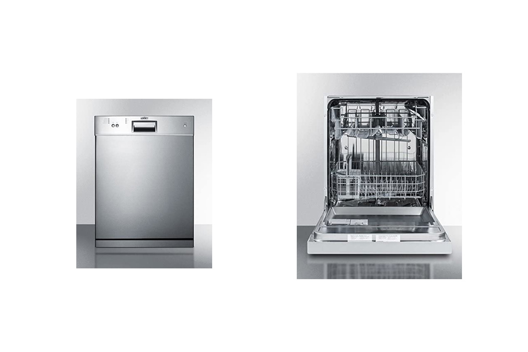 "Dishwasher 23.5"" Built-In Countertop Stainless Steel Euro Kitchen Appliance"