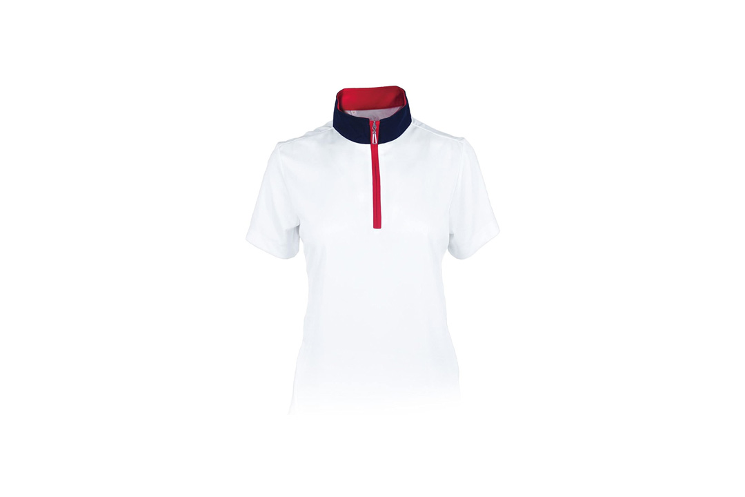 Monterey Club Ladies' Dry Swing Hi-Low Contrast Zipped up Collar #2325