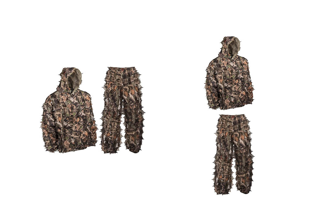 North Mountain Gear Shadow Brown Camouflage Complete Camo Leafy 3D Hunting gEAR
