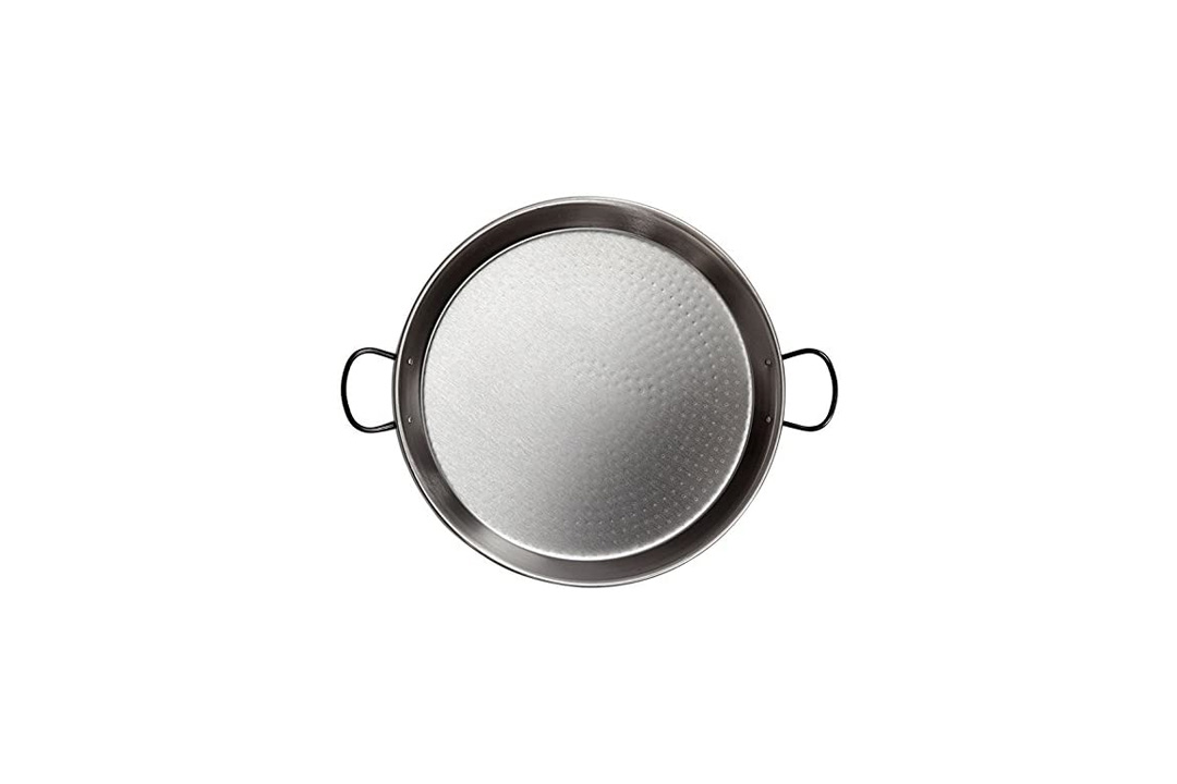 Paella pan Polished Steel 22Inches/55cm/up to 16 Servings/