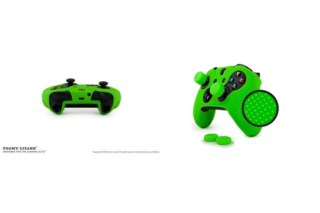 ParticleGrip STUDDED Skin Set for Xbox One (& One S) by Foamy Lizard