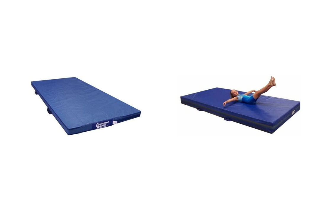 "Team Sports Gymnastics 4"" Skill Throw Landing Mats 4'x8', Blue Vinyl"