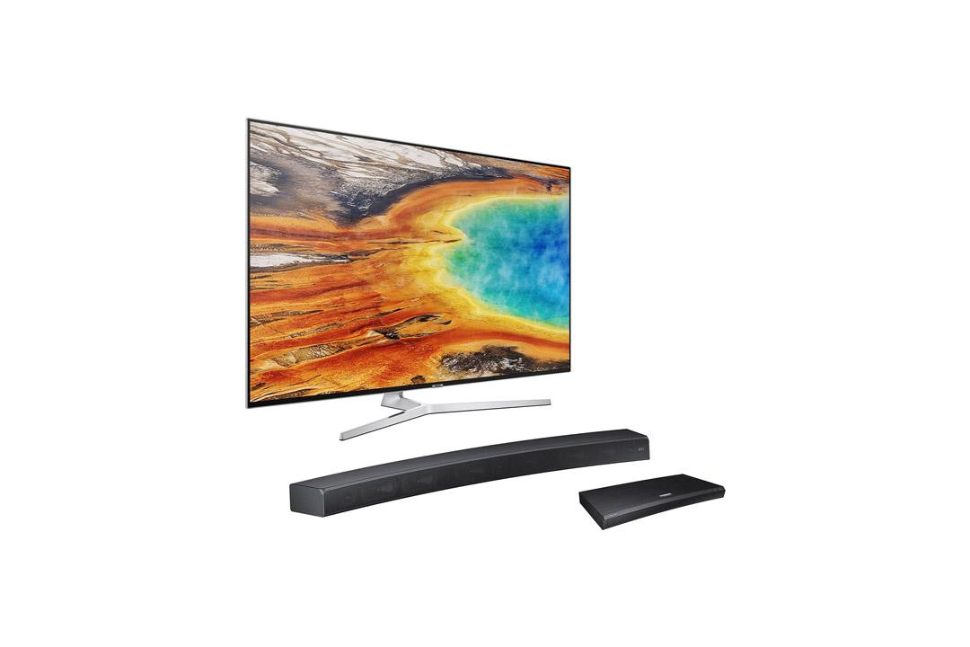 UN55MU9000 Curved 55-Inch 4K UHD TV Home Theater Bundle with Sound+ Curved Soundbar