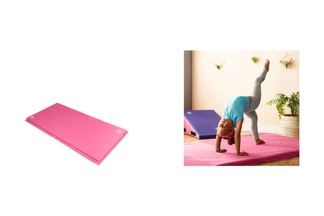"We Sell Mats GM4x8PKv4-50M Pink 2"" Thick Gymnastics Tumbling"