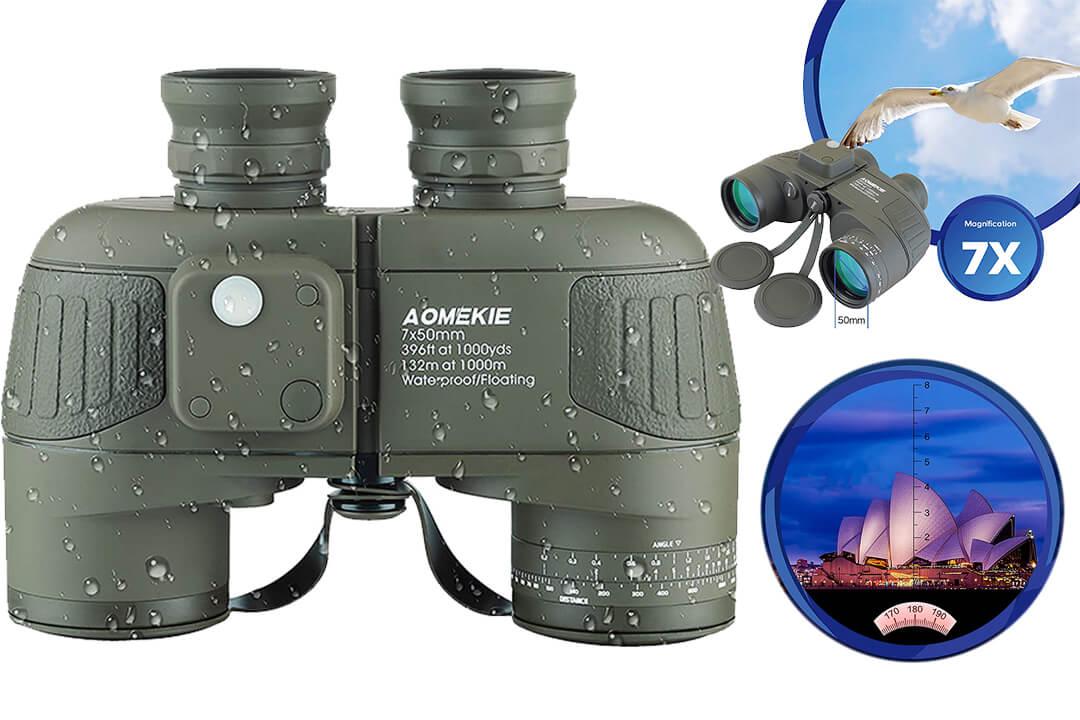 Aomekie Binoculars Adults 7X50 Binoculars Marine Military