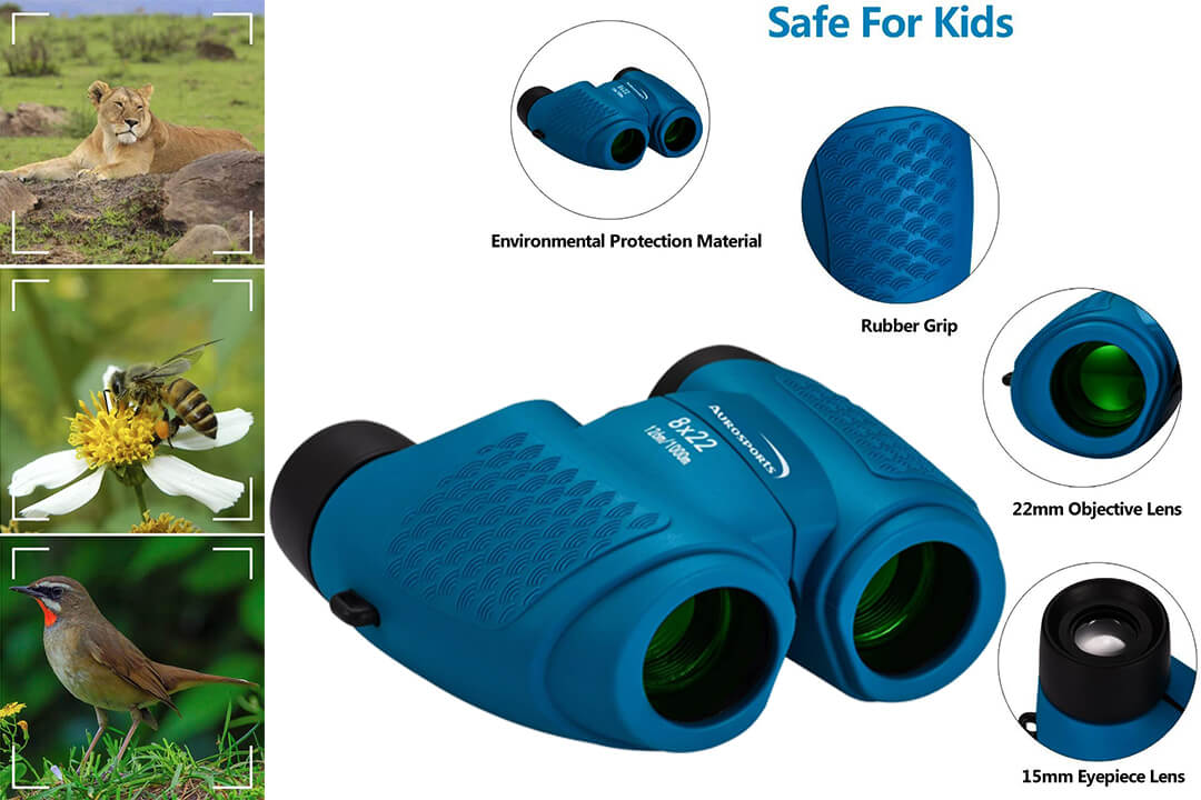 Aurosports Focus Binoculars Compact Fixed Kids