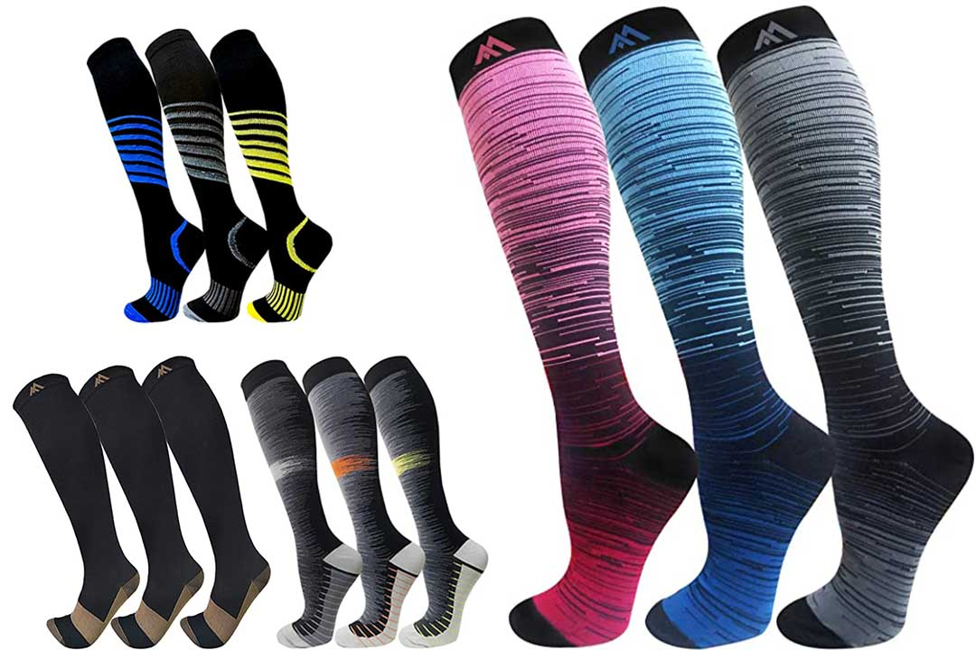 Copper Compression Socks for Men & Women(3 Pairs)