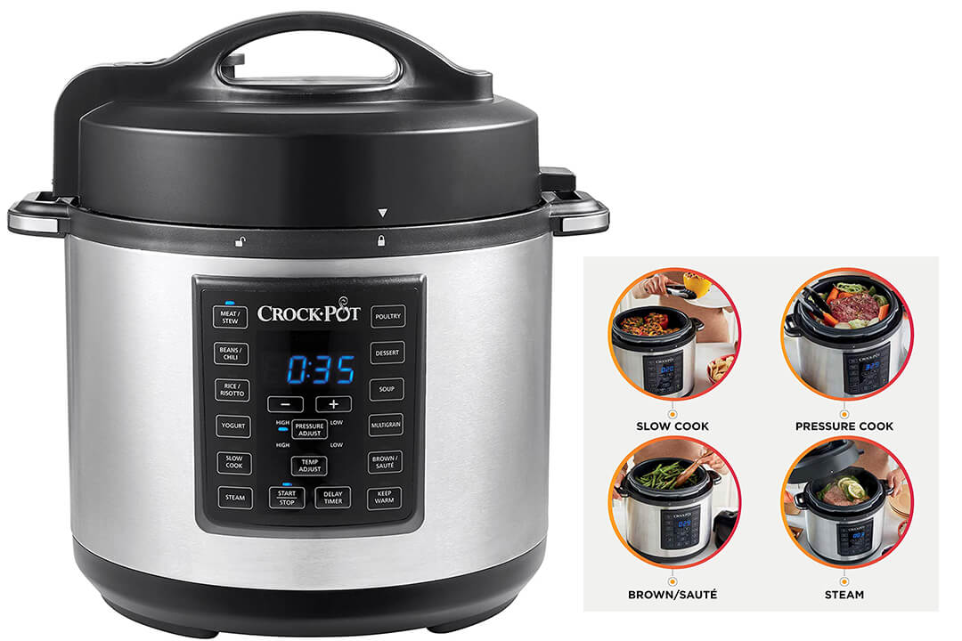Crock-Pot 6 Qt 8-in-1 Multi-Use Express Crock Programmable Slow Cooker