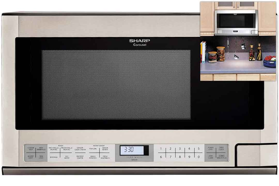 Cubic Feet 1100-Watt Over-the-Counter Microwave, Stainless