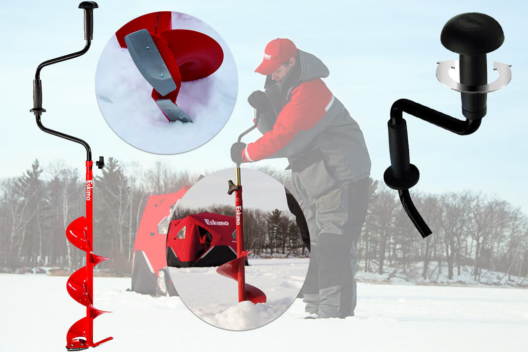 Eskimo HD06 Hand Auger with 6-Inch Dual Flat Blades
