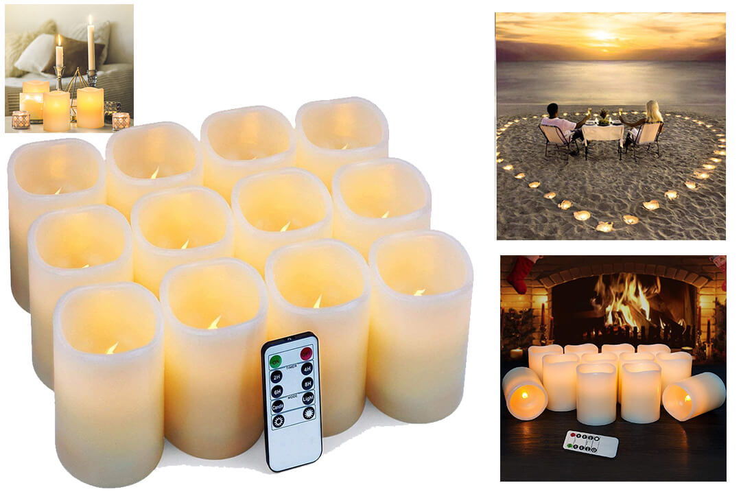 Flameless Candles Flickering LED Candles Set of 12