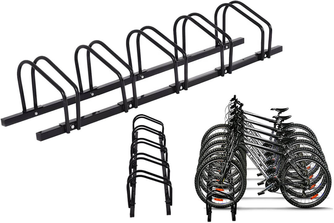 Goplus 5 Bike Rack Bicycle Garage Storage Organizer Cycling Rack