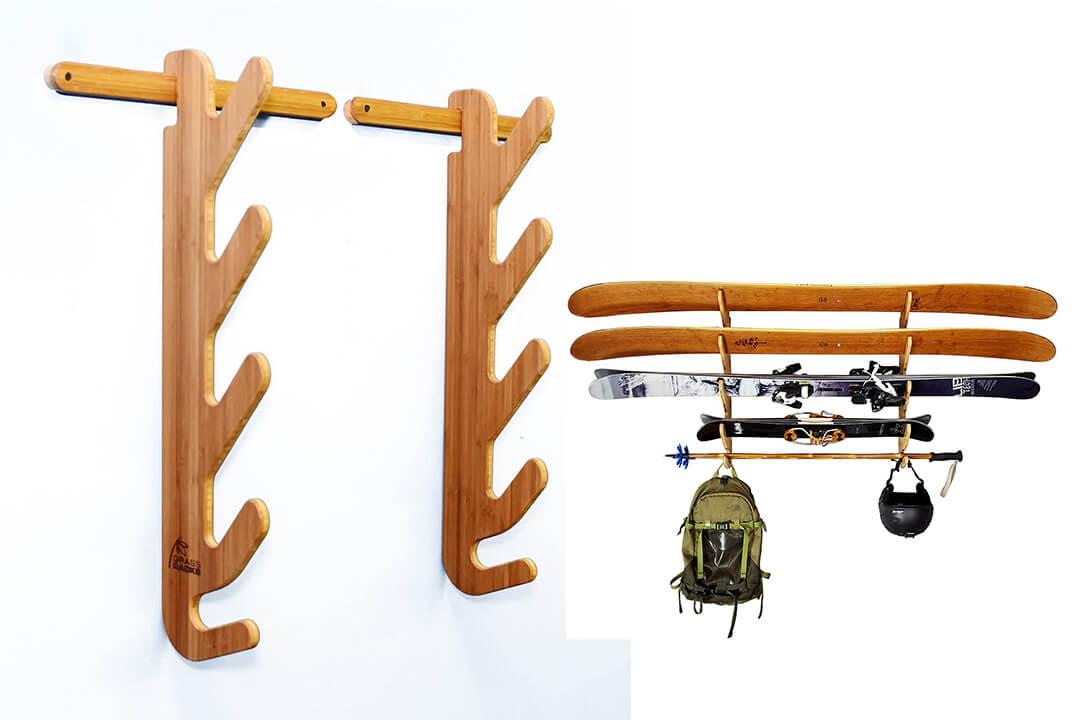 Grassracks Hallsteiner Bamboo Ski Rack