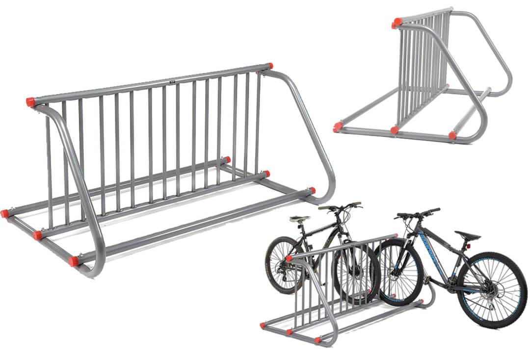 Grid Bike Rack, Double Sided, 10-Bike Capacity Bike stand
