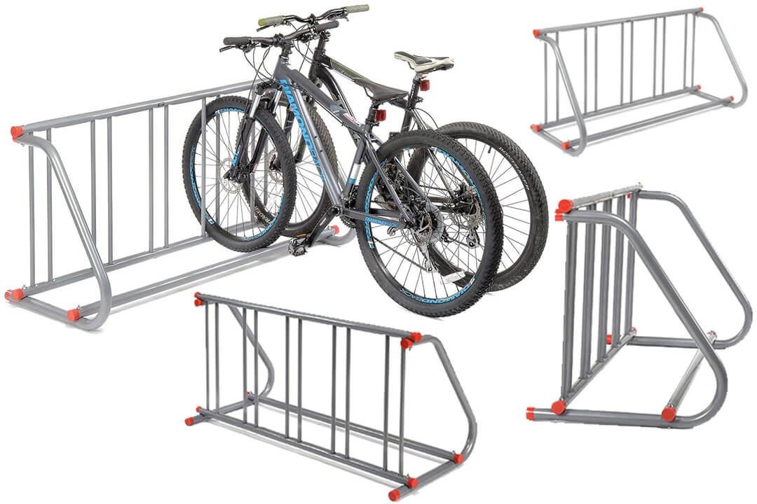 Grid Bike Rack, Powder Coated Galvanized Steel, 5-Bike Capacity