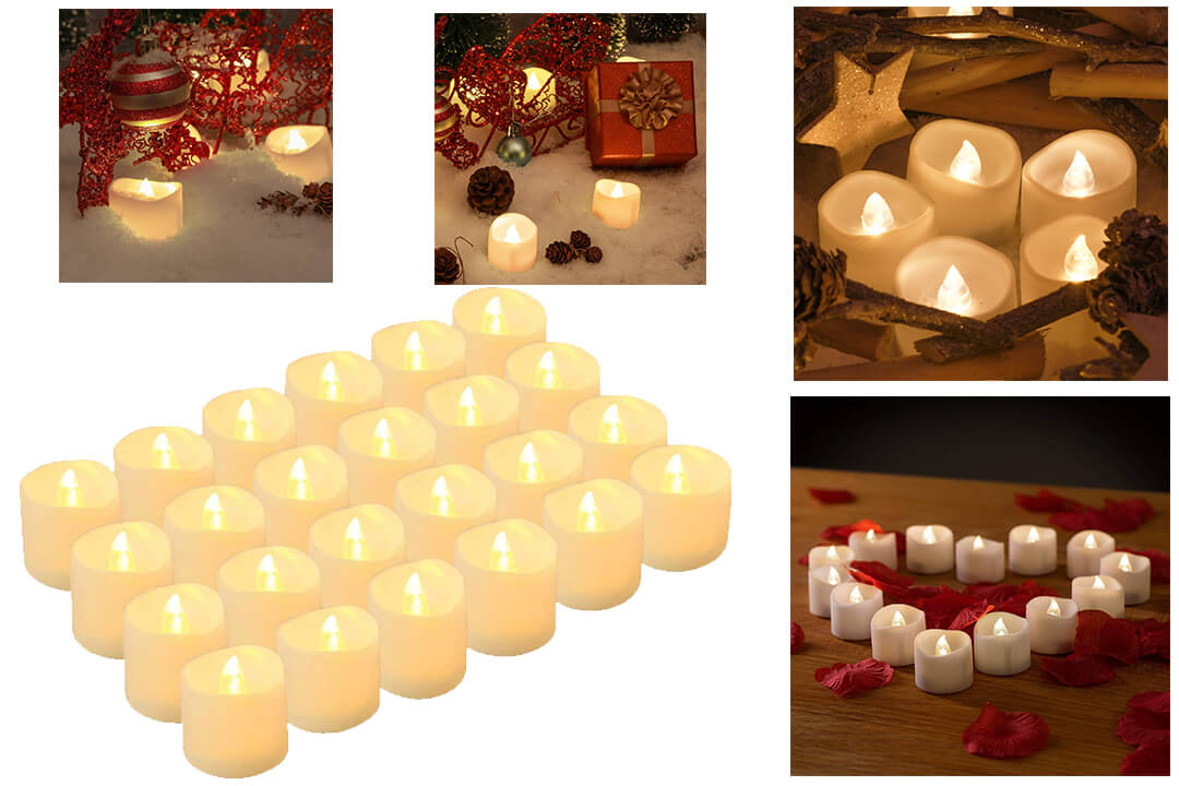 LED Tea Lights Candles, Kohree Flameless Candles LED Candles, Flickering Tealight Candles