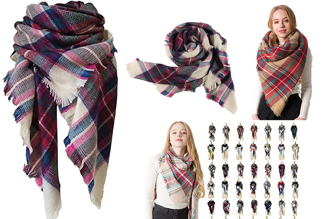 Rachape Women Elegant, Warm Blanket Scarf