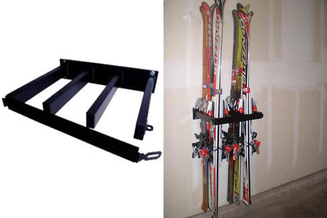 Locking Ski and Snowboard Rack Ski or Snowboard Rack