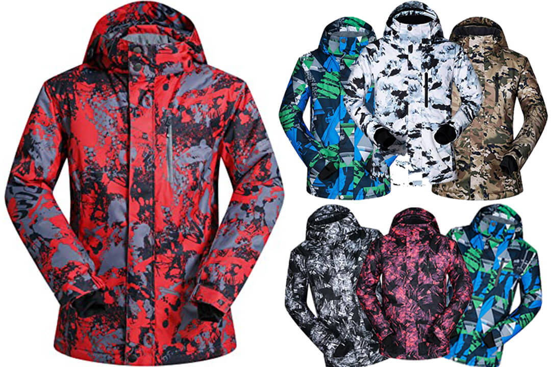 Men's Ski Jacket Outdoor Waterproof Windproof