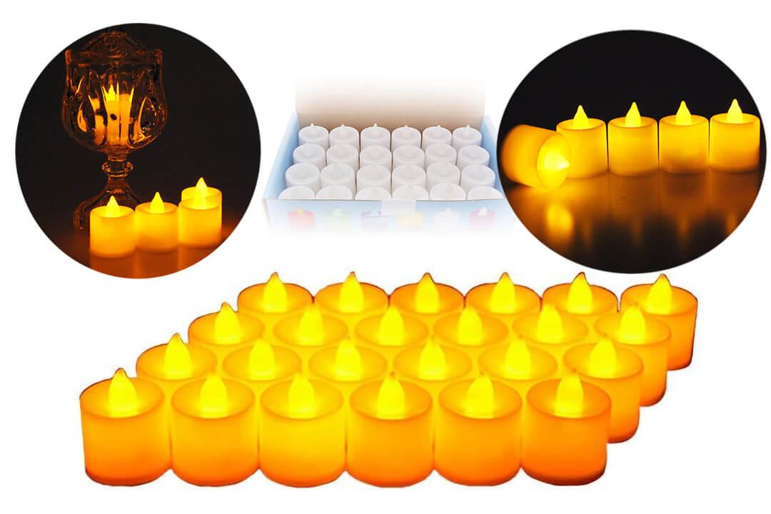 Midafon 24 Pcs LED Flameless Candles Votive Candles Flickering Tealight Candles