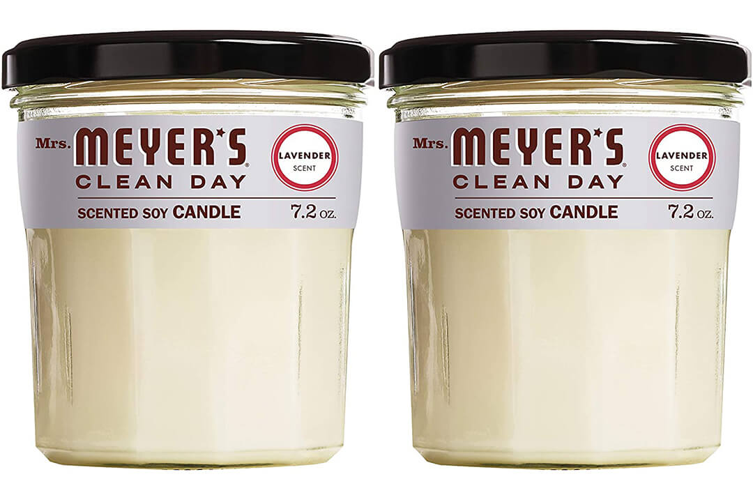 Mrs Meyer's Clean Day Scented Soy Candle, Large Glass, Lavender, 7.2 oz
