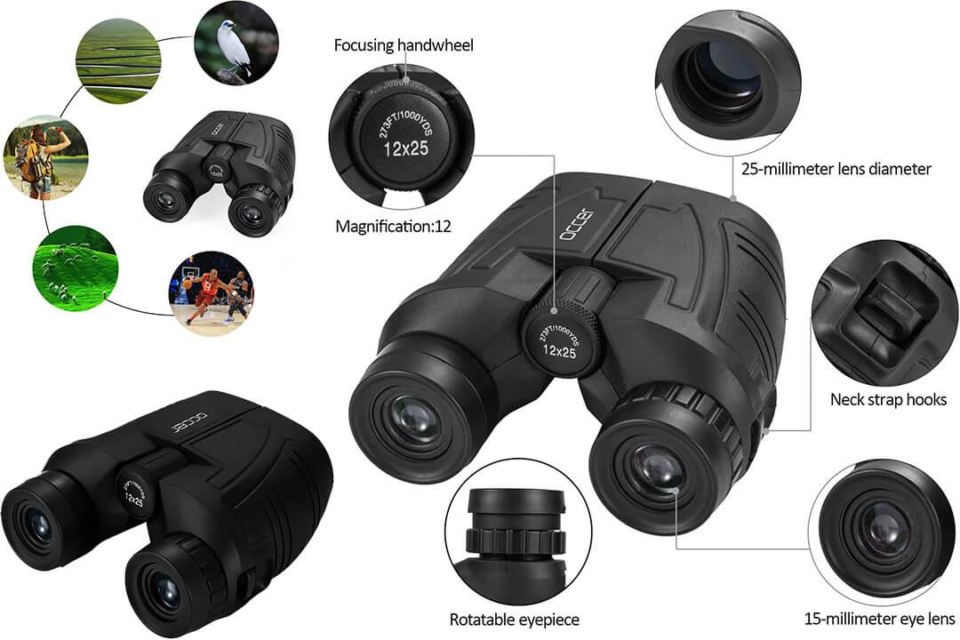 Occer Compact12x25 Binoculars